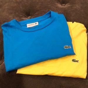 Lacoste shirt bundle of 2